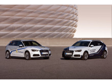 Audi A3 Sportback e-tron cars to advertise the Audi Cup - Real Madrid and Tottenham