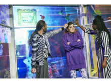 "Eyk Kauly, Athina Lange, Ruby Commey in ""Die Wut, die uns vereint"""