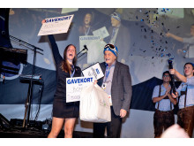 Carina Elsborg Jørgensen fra JYSK-butikken i Brande løb med prisen som Årets Store Manager-Trainee.