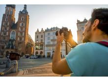 Turist i Krakow