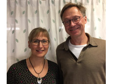 Maria Hjort, specialistsjuksköterska, ansvarig för den nya mottagningen för patienter med levercirros, samt Fredrik Rorsman, docent och specialistläkare inom gastroenterologi