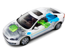 Plug-in hybrid electric car