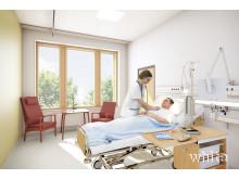 Vårdrum Akademiska sjukhuset