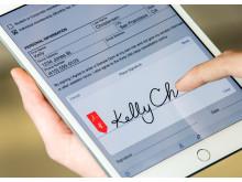 Adobe smartphone signatur