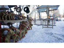 Färna Julmarknad, marknadsgatan