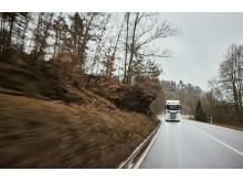 Spedition Kissel mit einem Scania S 520 unterwegs im Dahner Felsenland
