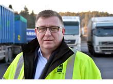 Geir A. Mo, administrerende direktør i NLF,  på Svinesund