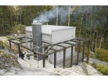 Björn bygger bo - Murad eldstad med rök 2