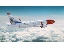 Sojourner Truth on the tailfin of Norwegian's newest Boeing 737 MAX aircraft