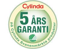 Symbol Cylinda 5 års Svanengaranti