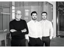 Peter Schmidt med partnerne Daniel Belliero og Marcel Zandée (f.v.)