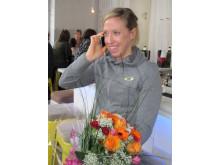 Lisa Nordén intervjuas efter beskedet om bragdguldet