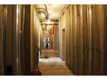 Slik ser det ut inne i en av etasjene i den nye lavblokka