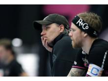 IBF Faluns tränare Thomas Brottman och Rasmus Enström