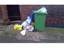 DUMPED: Rubbish left on Finsbury Street in Rochdale