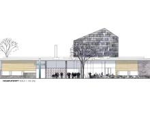 Den nya kyrkan i Almhult i Torslanda ritas av arkitekter på Sweco