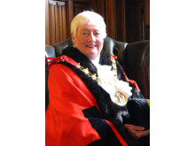 PAYING RESPECTS: Councillor Carol Wardle, the Mayor of Rochdale.