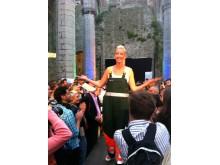 Sofia Arkelsten på schyst modevisning i Almedalen