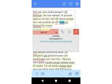 Språkkraft Läscoach appen Skärmbild