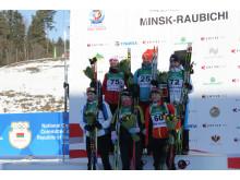 De seks beste normalprogram ungdom kvinner, Junior-VM, Minsk