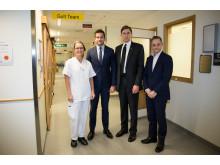 Sjukvårdsminister Gabriel Wikström besöker Skånes universitetssjukhus i Lund