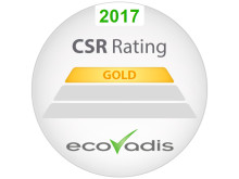 Gold by EcoVadis CSR Rating 2017