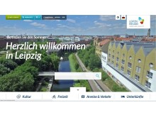 Screenshot der Website leipzig.travel
