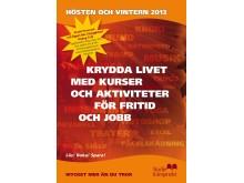 Framsidan på Studiefrämjandet i Stockholms höstkatalog 2013