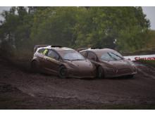 Olofsson och Nilsson i tvekamp om RallyX Lites-titel i Strängnäs