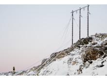 Strekking av linje Roan vindpark desember 2017