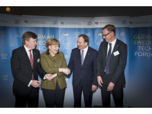 Angela Merkel und Stefan Löfven beim German Swedish Tech Forum 2