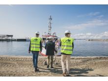 Första spadtag-ceremoni för World Trade Center Helsingborg  och ett nytt Scandic-hotell i Oceanhamnen, Helsingborg.