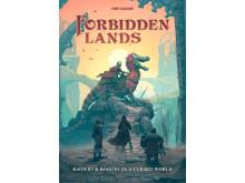 Forbidden Lands omslag av Simon Stålenhag