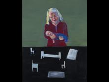 Lena Cronqvist, Pietà, 2001, 150x117cm, olja och tempera på duk