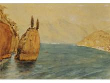 Emil Nolde: Scene from lake Como, 1893.