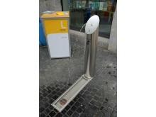 Trinkwasserbrunnen der Leipziger Wasserwerke vor der Tourist Information