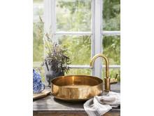 Handfat SUPERSINK Brass / Blandare TAPWELL EVO Raw Brass