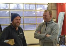 Mikael Ekman, Alingsås Bilvårdscenter (Ditec) och Mattias Petersen, Würth Svenska AB