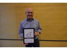Kenneth Hansen, Eftermarkedskoordinator H.E. Jørgensen A/S, modtog på vegne af firmaet Årets MAN Pris 2016