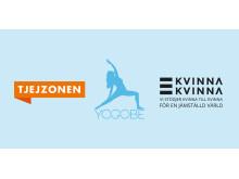 Yogaeventet Fem Empowered anordnas av Yogobe tillsammans med Kvinna till Kvinna och Tjejzonen