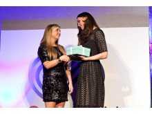 SportsAid's Patron The Duchess of Cambridge presents Amber Hill with the One-to-Watch Award at the SportsBall 2013