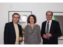 Dr. Erwin Geiss mit Frau Sannwald-Schwenk und Thomas Utecht (v.li.n.re.)