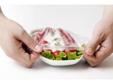 Matöverdragen är återanvändningsbara