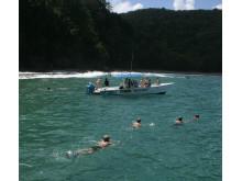 Båtutflukt på Tobago