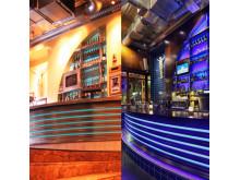 Joe Farelli's då och nu - till vänster designen från 1999, till höger 2017-versionen.