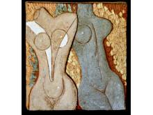 Tyra Lundgren - keramisk relief, utan årtal