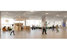Byggstart för Göteborg Landvetter Airport.  Visualisering: Sweco