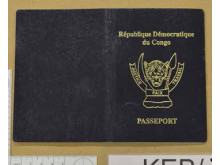 Cover of DR Congo passport recovered during the operation.