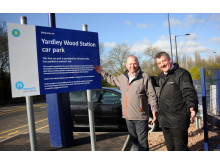 Duncan Fry, left, of Centro and Terry OIiver of London Midland at Yardley Wood station.