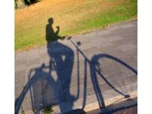 Cykelskugga, genrebild